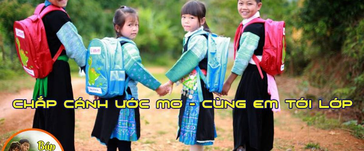 Chap canh uoc moi cung em toi lop - bup mang non